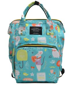 Large Capacity Printed Diaper Bag- Travel With jaiden