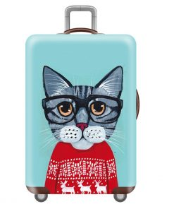 Funny Cartoon Suitcase Cover