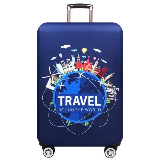 Travel the World Washable Suitcase Cover