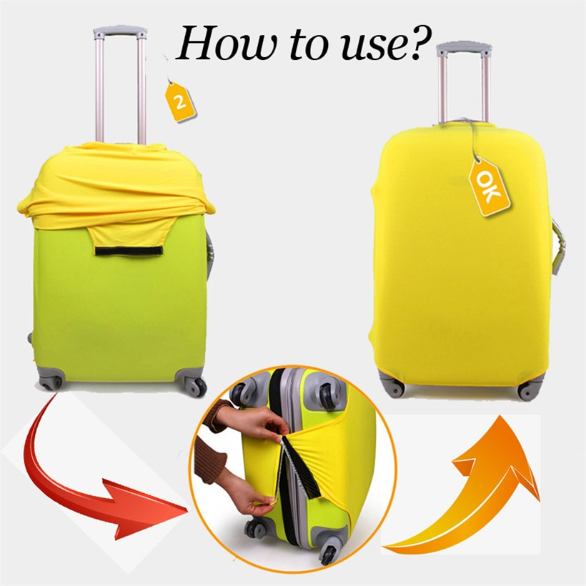 Yellowish Suitcase Protective Cover