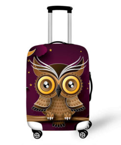 Baby Owl Luggage Protective Cover