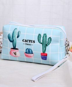 Cactus Travel Cosmetic Pouch- Makeup Bag |Travel With Jaiden