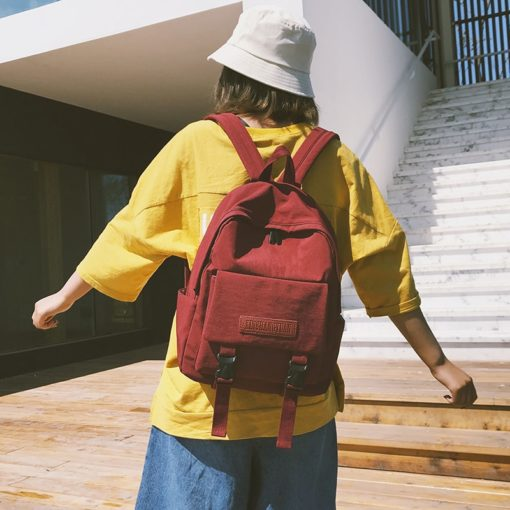 Solid Large Capacity Backpack